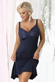 Damska koszulka nocna Gina Navy Blue