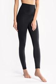 Czarne damskie bawełniane legginsy