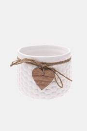 Ceramiczna doniczka biała