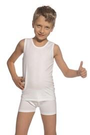 Komplet chłopięcy: biała podkoszulka i bokserki