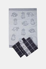 KOMPLET żakardowych ścierek kuchennych Koty