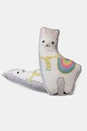 Poduszka dziecięca Lama biała