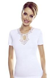 Damska biała bluzka z krótkimi rękawami Leila