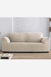 Pokrowiec na dwuosobową sofę Milos kremowy
