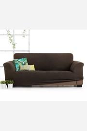 Pokrowiec na trzyosobowa sofę Milos brązowy