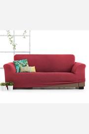 Pokrowiec na sofę trzyosobową Milos czerwony