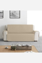 Pokrowiec na dwuosobową sofę Moorea beżowy
