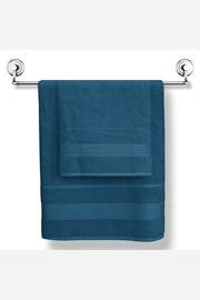 Granatowy ręcznik bambusowy Moreno