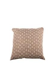 Dekoracyjna brązowa poszewka na poduszkę - wzór w choinki