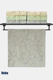 Luksusowy ręcznik VEBA Primavera szary