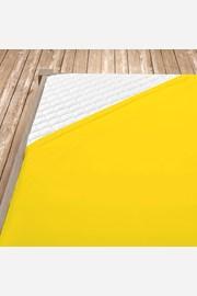 Dżersejowe prześcieradło z gumką - żółte