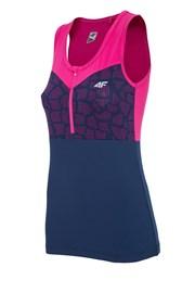 Damska koszulka sportowa 4F Pink Dry Control bez rękawów