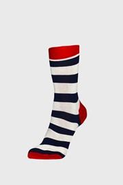 Skarpetki Happy Socks Stripe niebiesko-czerwone