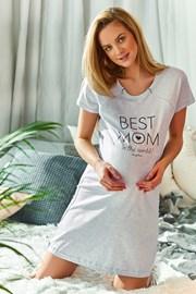 Koszulka ciążowa i do karmienia Best Mom szara