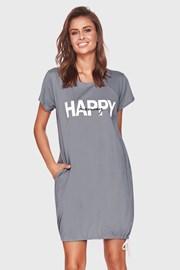 Koszulka ciążowa i do karmienia Happy Mommy szara