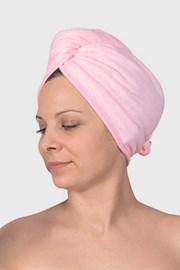 Turban do włosów różowy