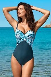 Jednoczęściowy damski kostium kąpielowy Xena Blue