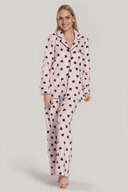 Damska piżama DKNY Festive Beast różowa
