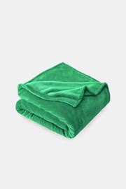 Mikropluszowy koc zielony