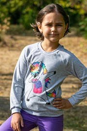Cienka dziewczęca bluza Unicorn