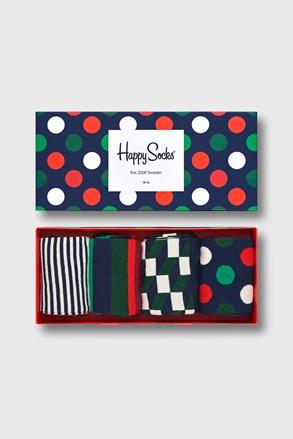 4 PACK skarpetek Happy Socks Big Dot