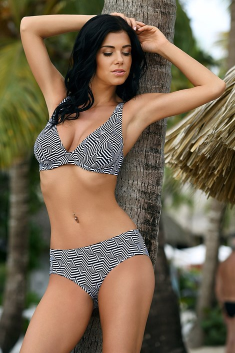 Dwuczęściowy kostium kąpielowy Desirea z nieusztywnianym biustonoszem