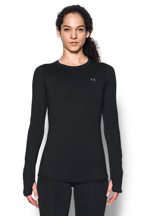 Czarny T-shirt sportowy Under Armour Crew