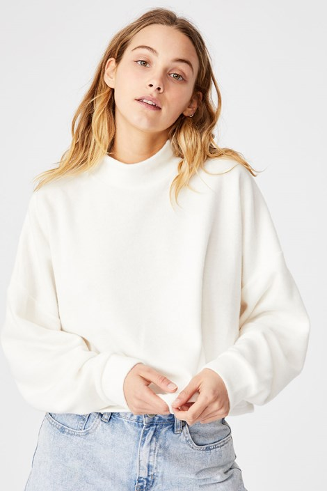 Damska beżowa bluza sportowa Brina Oversized