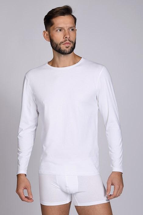 Biała koszulka z długimi rękawami Cotton Nature