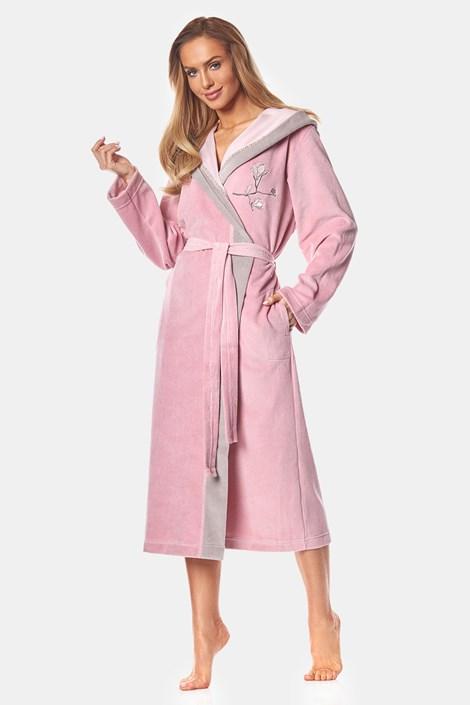 Damski bawełniany szlafrok May Powder Pink