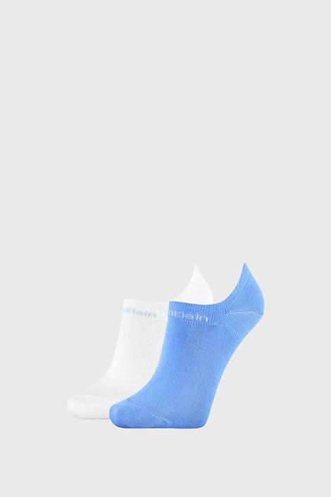 2 PACK damskich skarpetek Calvin Klein Leanne niebiesko-białe