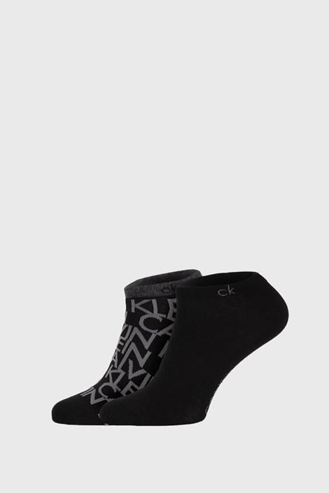 2 PACK czarnych skarpetek Calvin Klein Deangelo