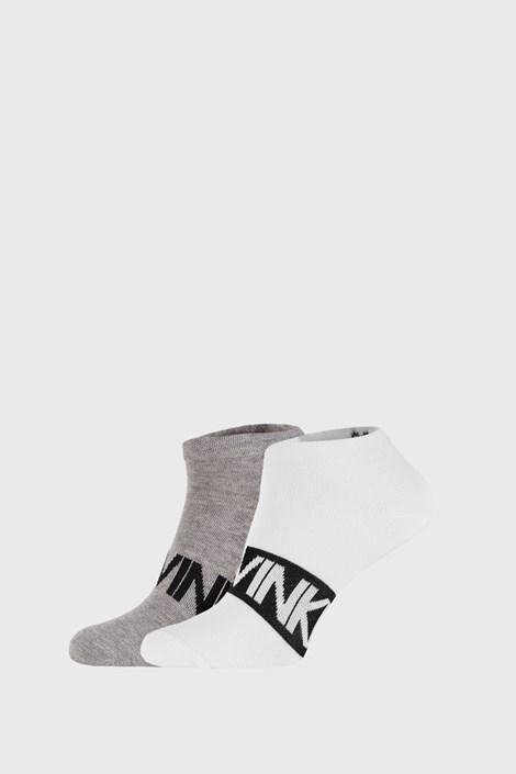 2 PACK szaro-białych skarpetek Calvin Klein Dirk