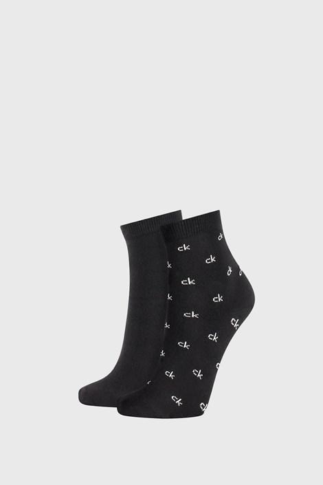 2 PACK czarnych damskich skarpetek Calvin Klein Gretchen