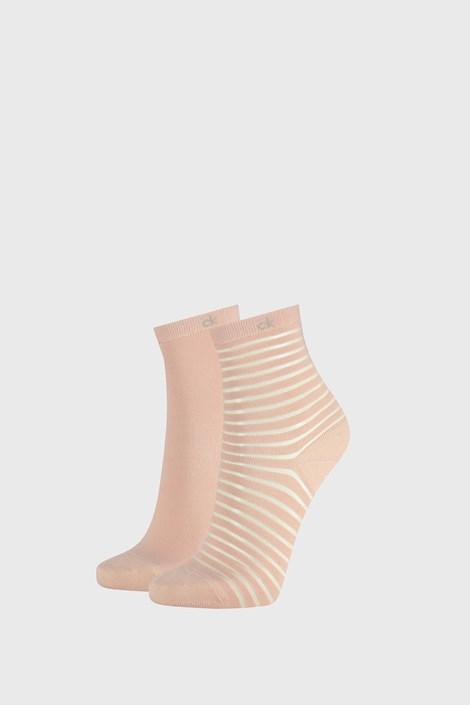 2 PACK damskich skarpetek Calvin Klein Lily różowe