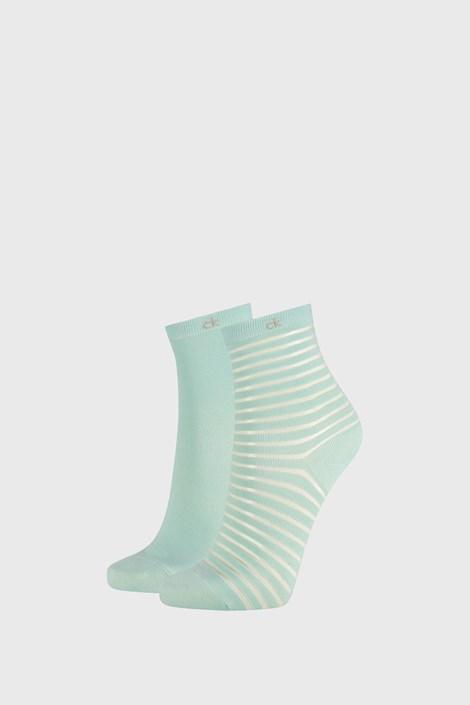 2 PACK damskich skarpetek Calvin Klein Lily zielone