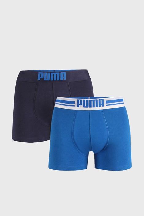 2 PACK niebieskich bokserek Puma Placed Logo