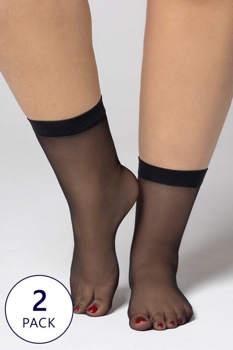 2 PACK nylonowych skarpetek Plus Size 20 DEN