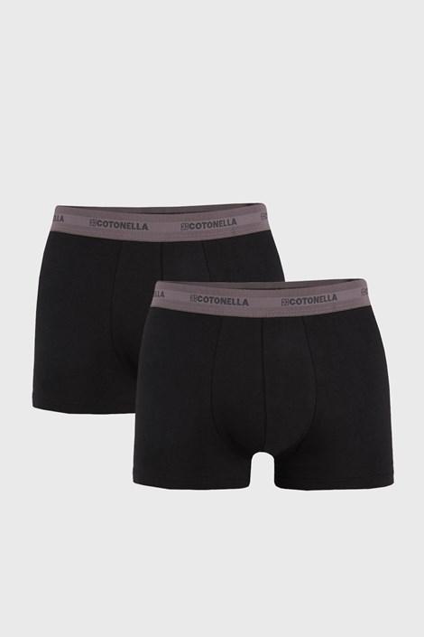 2 PACK szaro-czarnych bokserek UOMO Comfort