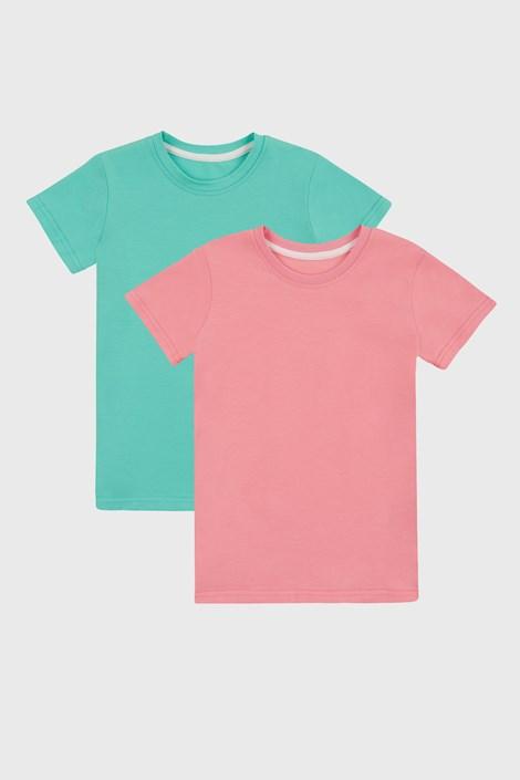 2 PACK dziewczęcych T-shirtów basic
