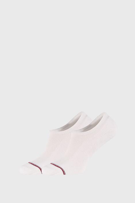 2 PACK białych niskich skarpetek Tommy Hilfiger Iconic