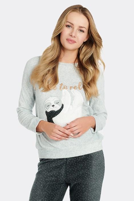 Damski polarowy T-shirt do spania