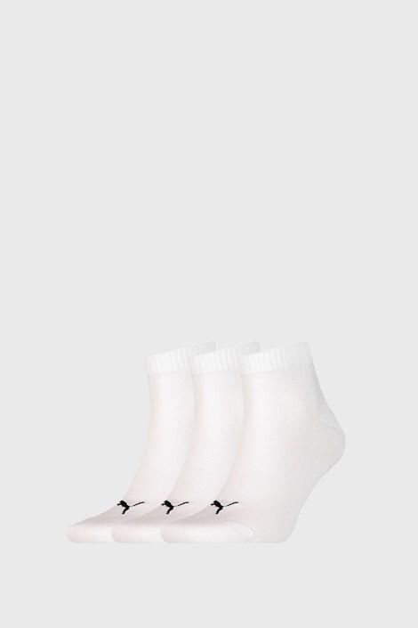 3 PACK białych skarpetek Puma Quarter Plain
