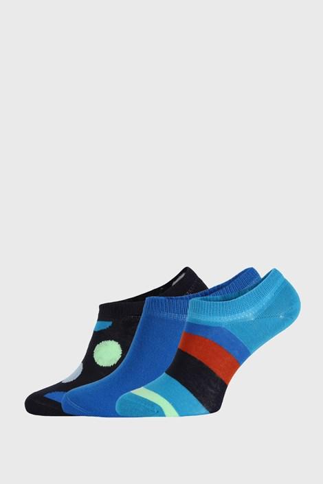 3 PACK skarpetek Happy Socks Stripes No Show