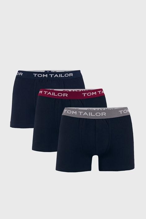 3 PACK niebieskich bokserek Tom Tailor