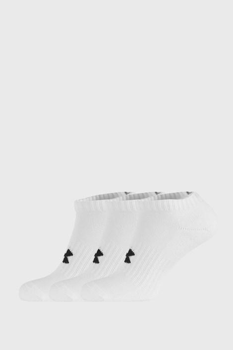 3 PACK niskich białych skarpetek Core Under Armour
