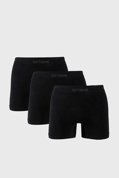 3 PACK czarnych bokserek Trunk