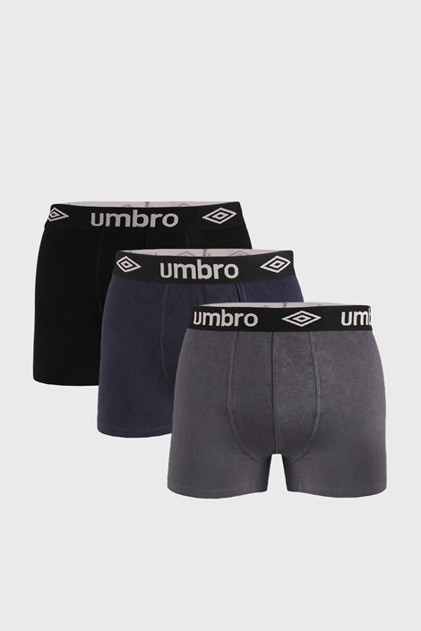 3 PACK bokserek Umbro Organic Cotton