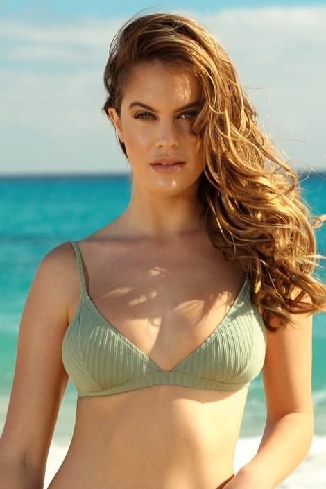 Biustonosz od stroju kąpielowego bikini Khaki Triangle
