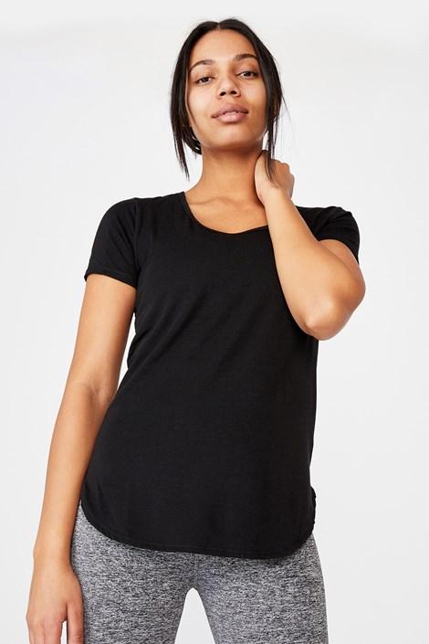 T-shirt sportowy Gym czarny